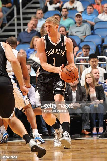 Doron Lamb of the Brooklyn Nets dribbles the ball against the Orlando Magic during the game on April 9 2014 at Amway Center in Orlando Florida NOTE...