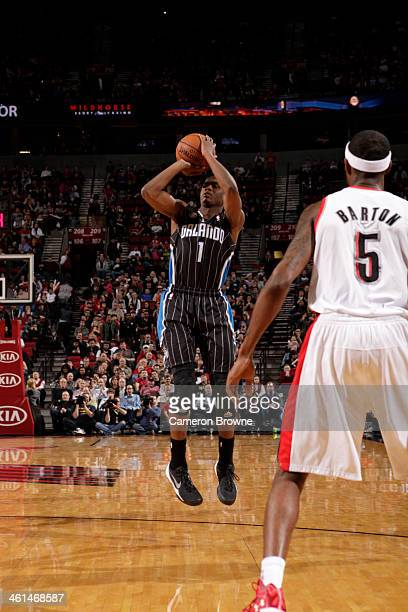 Doron Lamb of the Orlando Magic shoots against the Portland Trail Blazers on January 8 2014 at the Moda Center Arena in Portland Oregon NOTE TO USER...