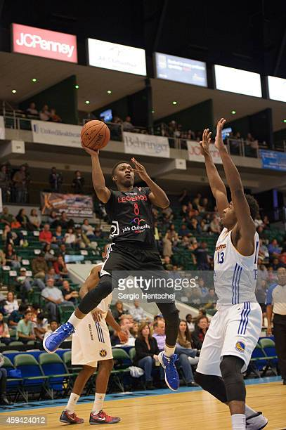 Doron Lamb of the Texas Legends shoots the ball against the Santa Cruz Warriors on November 21 2014 at Dr Pepper Arena in Frisco Texas NOTE TO USER...