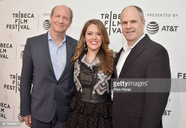 Doron Weber Alexandra Dean and Michael Kantor attend 'Bombshell The Hedy Lamarr Story' Premiere during the 2017 Tribeca Film Festival at SVA Theatre...