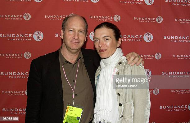 Doron Weber and Diane Bell attend the Alfred P Sloan Foundation Reception during the 2010 Sundance Film Festival at Filmmaker Lodge on January 29...