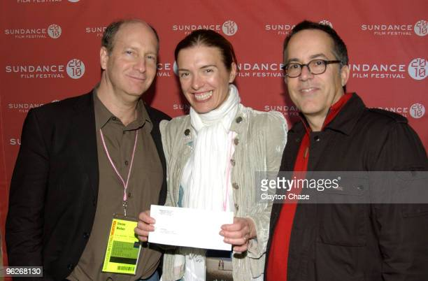Doron Weber Diane Bell and Sundance Film Festival Director John Cooper attend the Alfred P Sloan Foundation Reception during the 2010 Sundance Film...