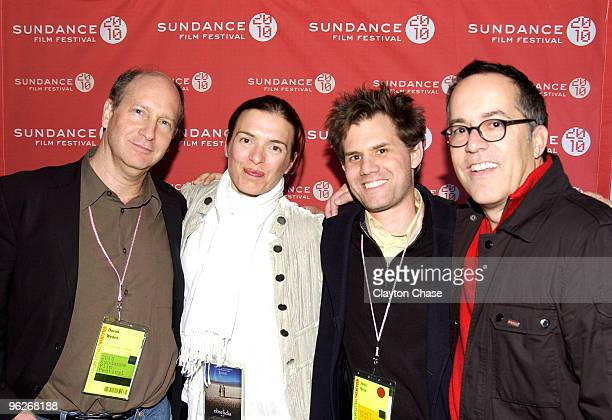 Doron Weber Diane Bell John Neir and Sundance Film Festival Director John Cooper attend the Alfred P Sloan Foundation Reception during the 2010...