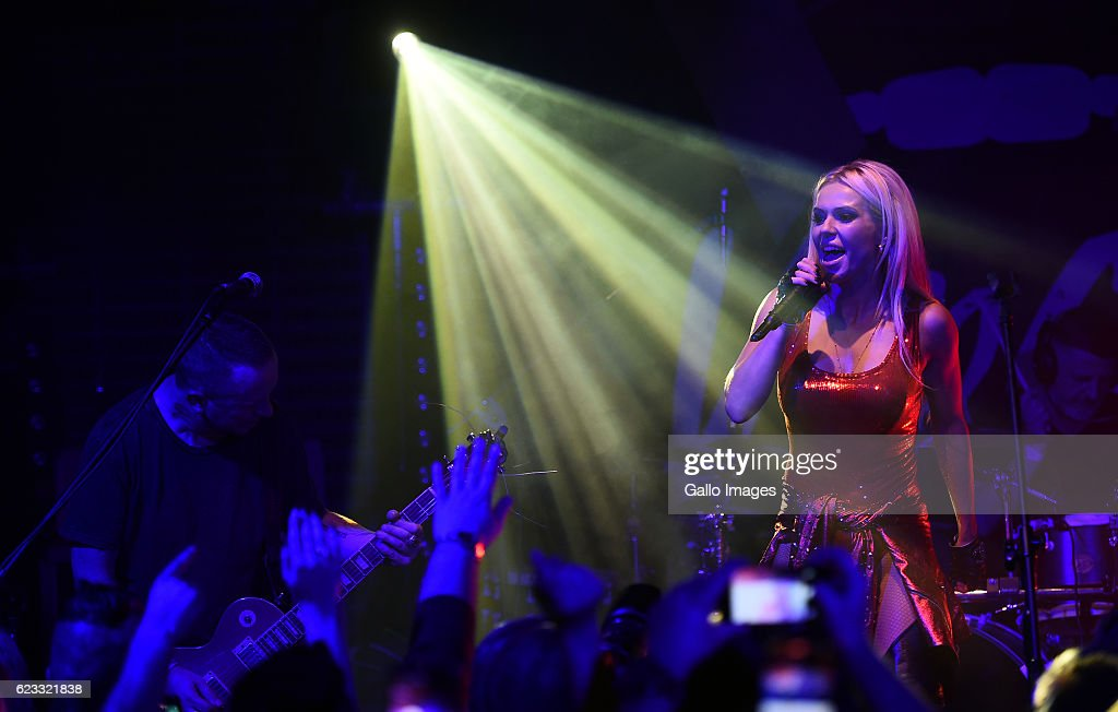Dorota Rabczewska 'Doda' performing at the stage during the concert and  premiere of the