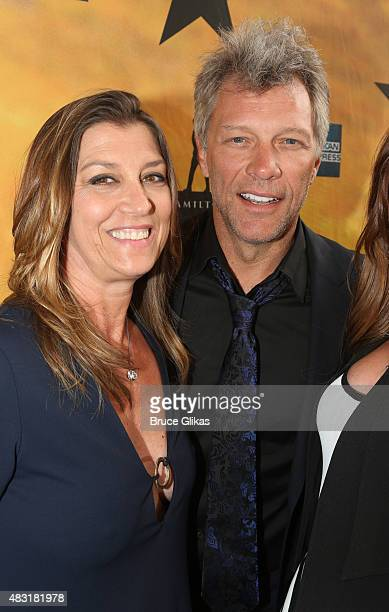 Dorothea Bon Jovi and Jon Bon Jovi attend 'Hamilton' Broadway opening night at Richard Rodgers Theatre on August 6 2015 in New York City