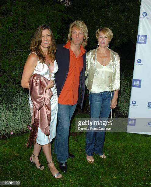 Dorothea Bon Jovi Jon Bon Jovi and Ellen Barkin during Philanthropic Arts Foundation's Sixth Annual 'Art For Life' Benefit Arrivals at Private East...