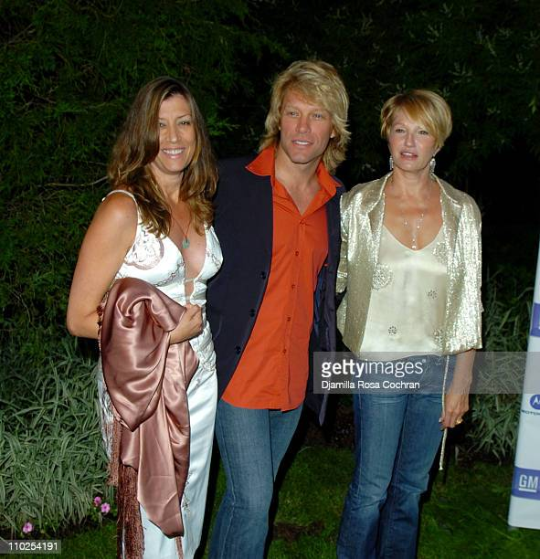 Dorothea Bon Jovi Jon Bon Jovi and Ellen Barkin during Philanthropic Arts Foundation's Sixth Annual Art For Life Benefit Arrivals at Private East...