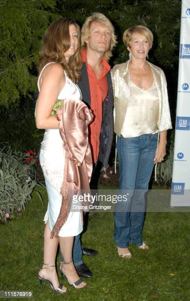 Dorothea Bon Jovi Jon Bon Jovi and Ellen Barkin during Philanthropic Arts Foundation's Sixth Annual 'Art For Life' Benefit at Private East Hampton...