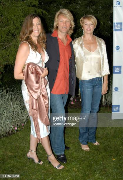 "Dorothea Bon Jovi, Jon Bon Jovi and Ellen Barkin during Philanthropic Arts Foundation's Sixth Annual ""Art For Life"" Benefit at Private East Hampton..."