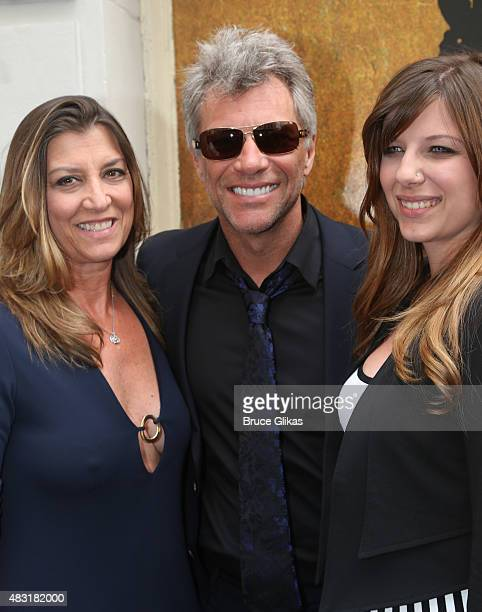 Dorothea Bon Jovi Jon Bon Jovi and Stephanie Bon Jovi attend Hamilton Broadway opening night at Richard Rodgers Theatre on August 6 2015 in New York...