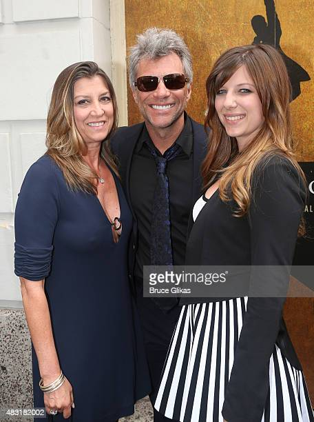 Dorothea Bon Jovi Jon Bon Jovi and Stephanie Bon Jovi attend 'Hamilton' Broadway opening night at Richard Rodgers Theatre on August 6 2015 in New...