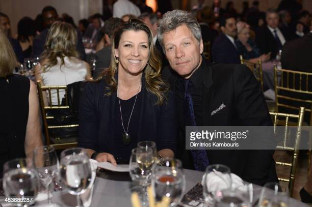 Dorothea Bongiovi and Jon Bon Jovi attends the Food Bank for New York City's Can Do awards dinner gala on April 9, 2014 in New York City.