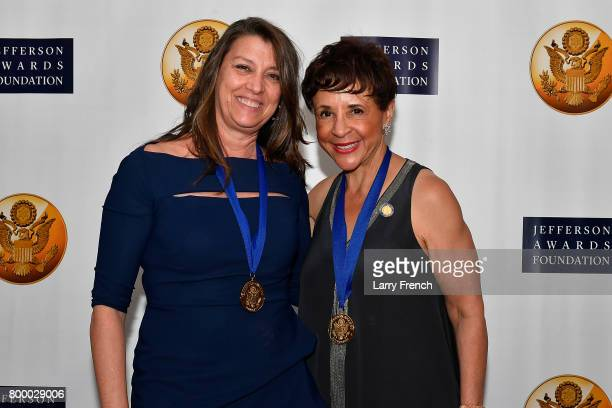 Dorothea Bongiovi recipient of the Jacqueline Kennedy Onassis Award and Sheila Johnson recipient of the S Roger Horchow Award for Outstanding Public...