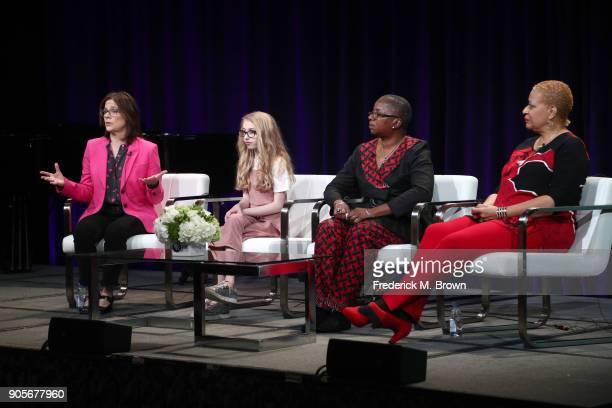 "Dorothea Gillim series executive producer Kayla Erickson voice of ""Pinkalicious"" Akua F KouyateTate vice president of Education at Wolf Trap..."