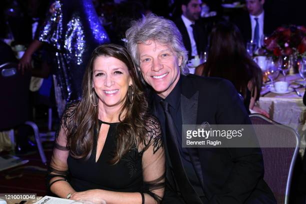 Dorothea Hurley and Jon Bon Jovi accept attend Jackie Robinson Foundation Robie Awards Dinner at Marriot Marquis on March 02 2020 in New York City