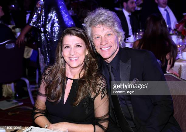 Dorothea Hurley and Jon Bon Jovi accept attend Jackie Robinson Foundation Robie Awards Dinner at Marriot Marquis on March 02, 2020 in New York City.