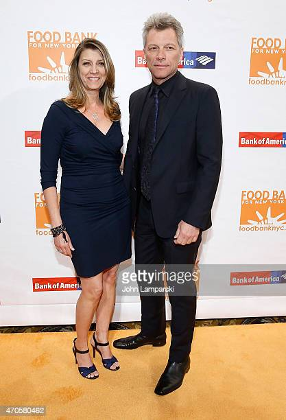 Dorothea Hurley and Jon Bon Jovi attend 2015 Can Do Awards at Cipriani Wall Street on April 21 2015 in New York City