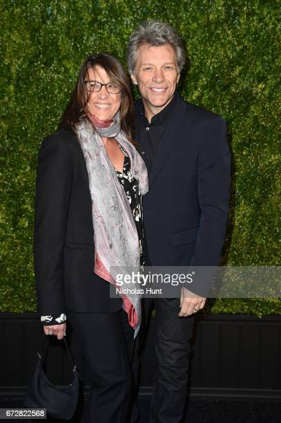 Dorothea Hurley and Jon Bon Jovi attend the CHANEL Tribeca Film Festival Artists Dinner at Balthazar on April 24 2017 in New York City