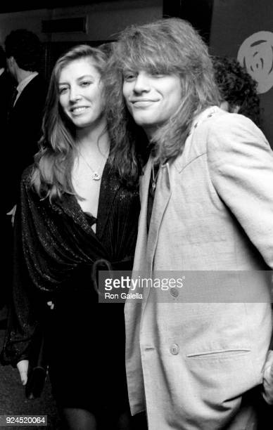 Dorothea Hurley and Jon Bon Jovi attend Third Annual Silver Clef Awards Dinner on November 15 1990 at Roseland in New York City