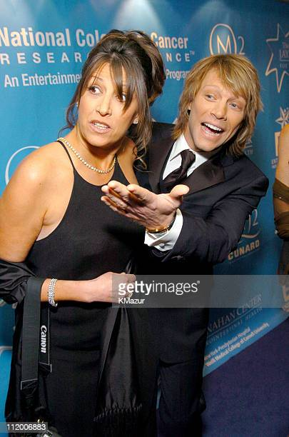 Dorothea Hurley and Jon Bon Jovi during Entertainment Industry Foundation's Colon Cancer Benefit on the QM2 Red Carpet at Queen Mary 2 in New York...