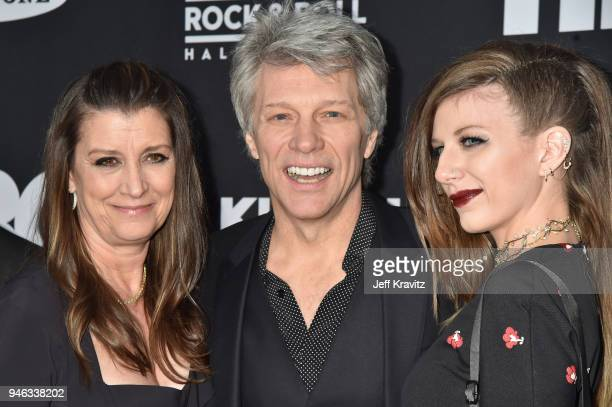 Dorothea Hurley, Inductee Jon Bon Jovi and Stephanie Rose Bongiovi attend the 33rd Annual Rock & Roll Hall of Fame Induction Ceremony at Public...