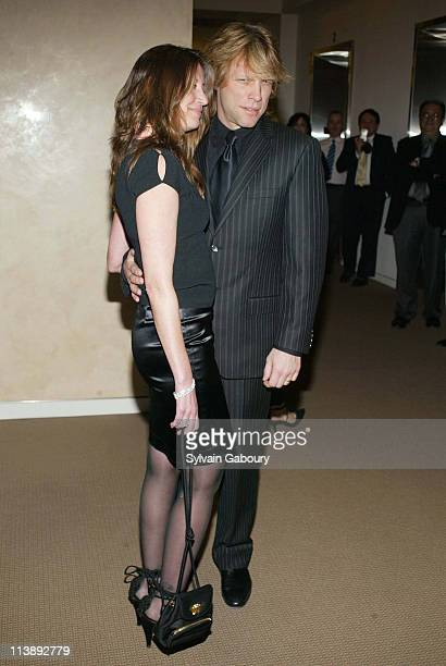 Dorothea Hurley Jon Bon Jovi during amfAR and ACRIA Honor Herb Ritts for His Work and Activism at Sotheby's in New York New York United States