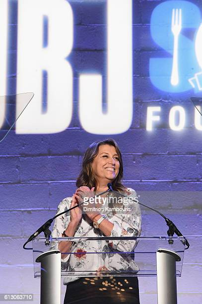 Dorothea Hurley speaks onstage at the Jon Bon Jovi Soul Foundation's 10 year anniversary at the Garage on October 6 2016 in New York City