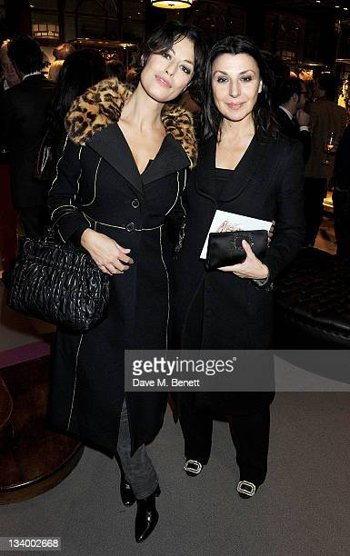 Dorothea Mercouri and Allegra Donn attend a cocktail party hosted by Gimmo Etro and family to celebrate the opening of Italian fashion house Etro's...