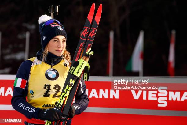 Dorothea Wierer of Italy A general view during the IBU Biathlon World Cup Men's 12.5 km Pursuit Competition on December 21, 2019 in Le Grand-Bornand,...