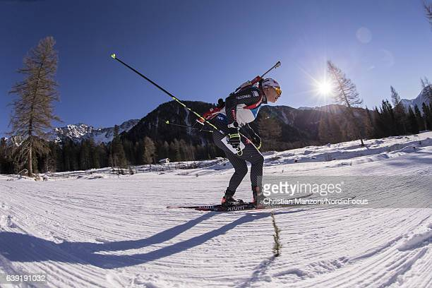 Dorothea Wierer of Italy competes during the 15 km women's Individual on January 19 2017 in AntholzAnterselva Italy