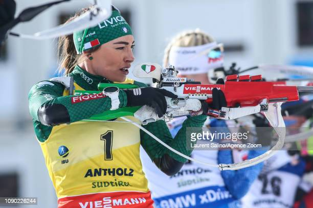 Dorothea Wierer of Italy competes during the IBU Biathlon World Cup Men's and Women's Mass Start on January 27 2019 in Antholz Anterselva Italy