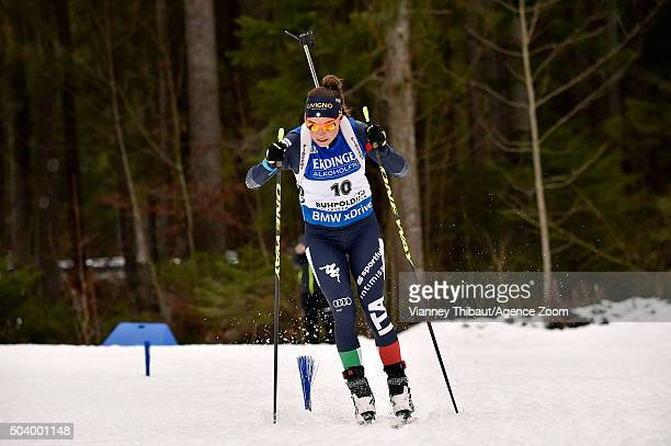 Dorothea Wierer of Italy competes during the IBU Biathlon World Cup Men's and Women's Sprint on January 8 2016 in Ruhpolding Germany