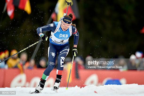 Dorothea Wierer of Italy competes during the IBU Biathlon World Cup Men's and Women's Mass Start on January 10 2016 in Ruhpolding Germany