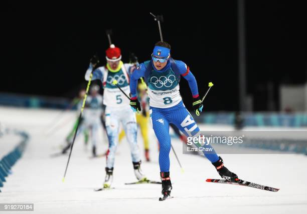 Dorothea Wierer of Italy competes during the Women's 125km Mass Start Biathlon on day eight of the PyeongChang 2018 Winter Olympic Games at Alpensia...