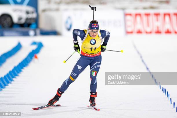 Dorothea Wierer of Italy competes during the Womens 15 km Individual Competition at the BMW IBU World Cup Biathlon Oestersund at Swedish National...