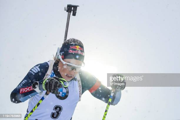 Dorothea Wierer of Italy in action competes during the Women 10 km Pursuit Competition at the BMW IBU World Cup Biathlon Ruhpolding on January 19,...