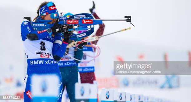 Dorothea Wierer of Italy in action during the IBU Biathlon World Cup Men's and Women's Pursuit on December 9 2017 in Hochfilzen Austria