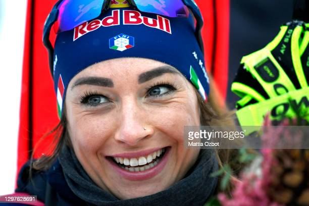 Dorothea Wierer of Italy poses during the Women 15 km Individual Competition at the BMW IBU World Cup Biathlon Antholz-Anterselva on January 21, 2021...