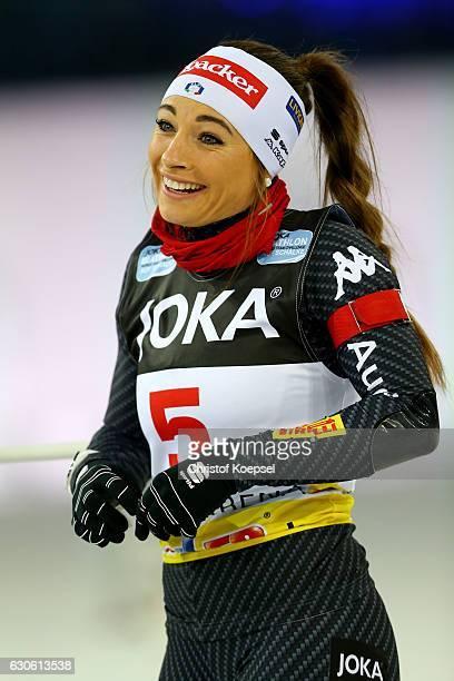 Dorothea Wierer of Italy prepares during the JOKA Biathlon World Team Challenge 2016 at VeltinsArena on December 28 2016 in Gelsenkirchen Germany