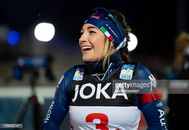 Dorothea Wierer of Italy reacts prior to the Biathlon World Team Challenge at Chiemgau Arena on December 28, 2020 in Ruhpolding, Germany.
