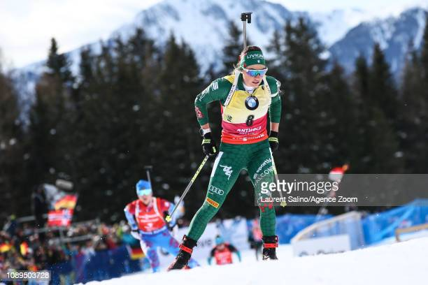 Dorothea Wierer of Italy takes 1st place during the IBU Biathlon World Cup Men's and Women's Pursuit on January 26 2019 in Antholz Anterselva Italy