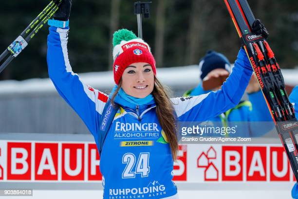 Dorothea Wierer of Italy takes 1st place during the IBU Biathlon World Cup Women's Individual on January 11 2018 in Ruhpolding Germany