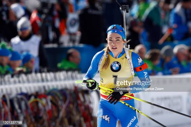 Dorothea Wierer of Italy takes 1st place during the IBU Biathlon World Championships Women's 10 km Pursuit Competition on February 16, 2020 in...
