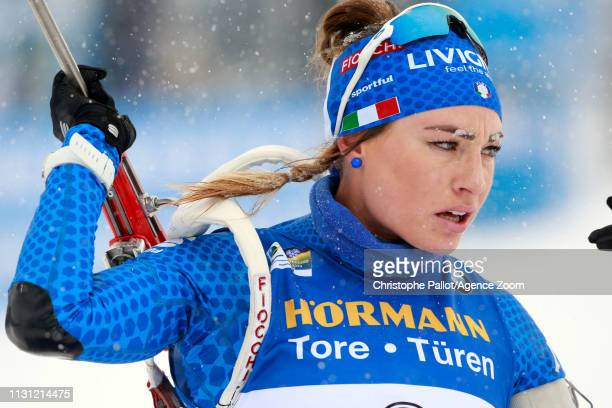 Dorothea Wierer of Italy wins the gold medal during the IBU Biathlon World Championships Men's and Women's Mass Start on March 17 2019 in Oestersund...