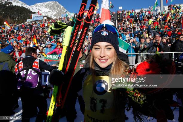Dorothea Wierer of Italy wins the gold medal during the IBU Biathlon World Championships Women's 15km Individual Competition on February 18, 2020 in...