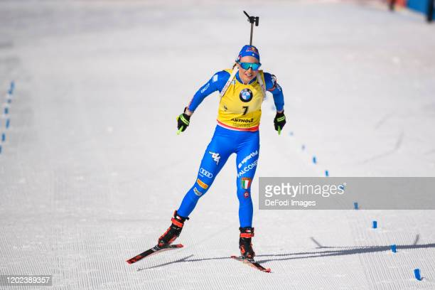 Dorothea Wierer of Italy wins the gold medal during the Women 10 km Pursuit Competition at the IBU World Championships Biathlon Antholz-Anterselva on...