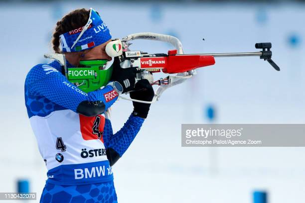 Dorothea Wierer of Italy wins the silver medal during the IBU Biathlon World Championships Men's and Women's Single Mixed Relay on March 14 2019 in...
