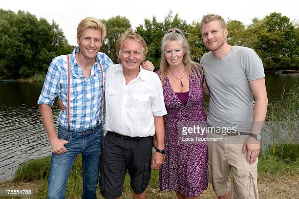 Dorothea Zepmeisel Maxi Arland Henry Arland and Hansi Arland attend the 20 Years Maxi Arland Charity Concert for SOSKinderdorf eV at Optikpark on...