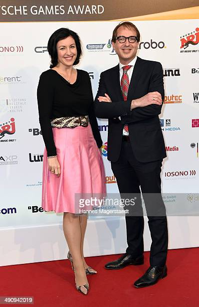 Dorothee Baer and Alexander Dobrindt attend the German Computer Games Award 2014 at Postpalast on May 15 2014 in Munich Germany