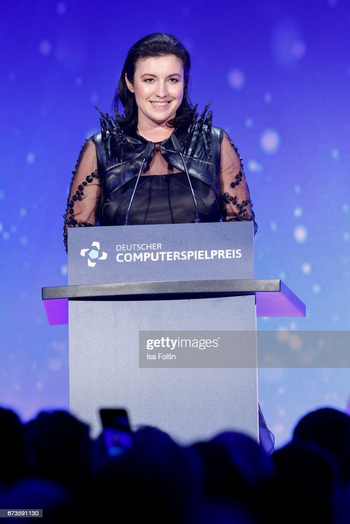 Dorothee Baer during the German Computer Games Award 2017 ( Deutscher Computerspielpreis 2017 ) at WECC on April 26, 2017 in Berlin, Germany.